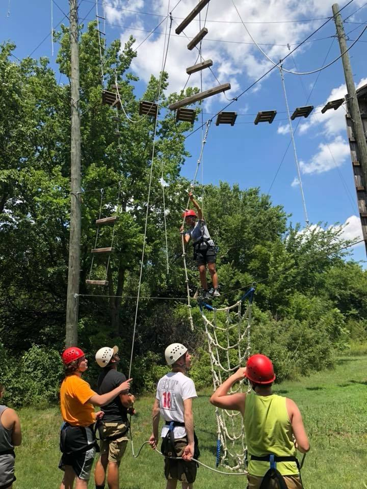 ropes course attendees